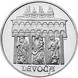 Pamětní stříbrná mince, 50Kčs Levoča stand