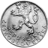 Pamätná strieborná minca, 50Kčs Tretie výročie Slovenského národného povstania stand