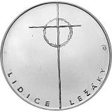 Pamätná strieborná minca, 100Kčs Lidice a Ležáky stand