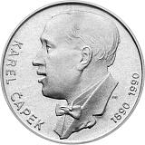 Pamětní stříbrná mince, 100Kčs Karel Čapek stand