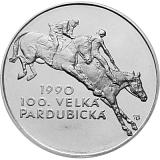 Pamätná strieborná minca, 100Kčs 100. výročie Veľkej pardubickej stand