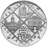 Pamětní stříbrná mince, 100Kčs Výstava Praga 88 stand
