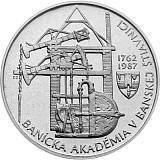 Pamětní stříbrná mince, 100Kčs Banská Štiavnica stand