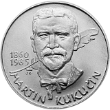 Pamätná strieborná minca, 100Kčs Martin Kukučín stand