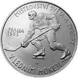 Pamätná strieborná minca, 100Kčs Majstrovstvá sveta v ľadovom hokeji stand