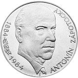 Pamätná strieborná minca, 100Kčs Antonín Zápotocký stand