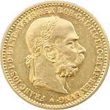 Zlatá mince, 10KORUN, František Josef I., 1897