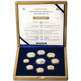 """Soubor mincí SR 2015 """"Slovenské euromince"""" proof-like v dřevěné kazetě"""