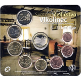 """Soubor mincí SR 2015 """"UNESCO na Slovensku - Vlkolínec"""""""