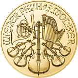 Investiční zlatá mince 50EUR Wiener Philharmoniker 1/2 oz