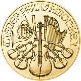 Investiční zlatá mince 25EUR Wiener Philharmoniker 1/4 oz