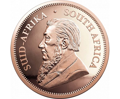 e50680402 Najznámejšia zlatá minca Južnej Afriky bez nominálnej hodnoty.