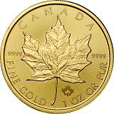 Investiční zlatá mince 50CAD Maple Leaf 1 oz