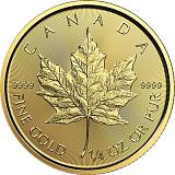 Investiční zlatá mince 10CAD Maple Leaf 1/4 oz