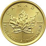 Investiční zlatá mince 5CAD Maple Leaf 1/10 oz