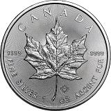 Investiční stříbrná mince 5CAD Maple Leaf 1 oz