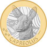 """Pamätná minca, 10CHF """"Švajčiarske lesné zvieratá - srnec"""" stand"""
