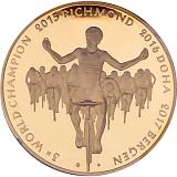 """Pamětní zlatá medaile """"Peter Sagan"""" v sadě proof-like"""