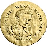 """Pamětní zlatá mince, 50EUR 1/4 oz 2019 """"Ženy Francie - Marie Curie"""" proof"""