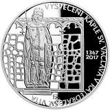 Pamätná strieborná minca, 200Kč Vysvätenie kaplnky sv. Václava v katedrále sv. Víta proof