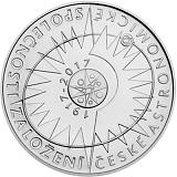 Pamätná strieborná minca, 200Kč Založenie Českej astronomickej spoločnosti stand