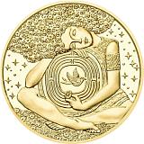 """Pamětní zlatá mince, 50EUR """"Vídeňská škola psychoterapie - Viktor Frankl"""" proof"""
