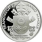 Pamětní stříbrná mince, 20EUR Pontifikát papeže Františka v sadě oběžných mincí 2019