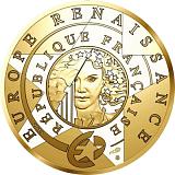 """Pamětní zlatá mince, 50EUR 1/4 oz 2019 """"Europa Star - 500. výročí úmrtí Da Vinciho"""" proof"""