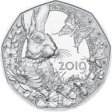 """Pamětní stříbrná mince, 5EUR """"Probouzení jara"""" stand"""