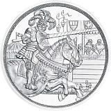 """Pamětní stříbrná mince, 10EUR """"Rytířské příběhy - Chivalry"""" stand"""