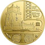 """Pamětní zlatá mince, 5EUR 1/2 g 2019 """"UNESCO - Břehy řeky Seiny"""" proof"""