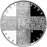 Pamětní stříbrná mince, 200Kč Založení Československého Červeného kříže proof