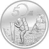 """Pamětní stříbrná mince, 20CHF """"50. výročí přistání Apolla 11 na Měsíci"""" proof"""