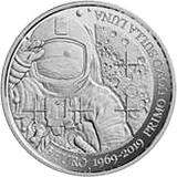 Pamětní stříbrná mince, 5EUR 50. výročí přistání na Měsíci San Marino proof