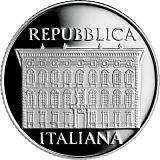 Pamätná strieborná minca, 5EUR 100. výročie úmrtia Cesara Maccariho v sade obežných mincí 2019 stand