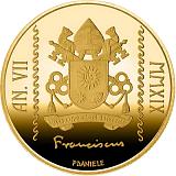 "Pamätná zlatá minca, 10EUR Pontifikát pápeža Františka 2019 - ""Krst - 2019"""