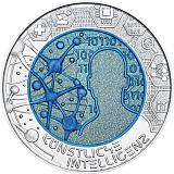 """Pamětní stříbrná mince, 25EUR """"Umělá inteligence"""" stand"""
