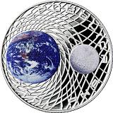 Pamätná strieborná minca, 5EUR 50. výročie pristátia na Mesiaci proof