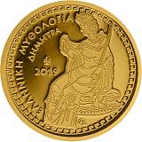 """Pamětní zlatá mince, 100EUR """"Řecká mytologie - Olympští bohové - Démétér"""" proof"""