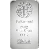 Investiční stříbro, slitek Argor Heraeus 250 g