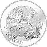 """Pamětní stříbrná mince, 20CHF """"Furka Pass"""" proof"""