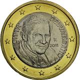 Pamětní mince, 1EUR Pontifikát papeže Benedikta XVI. 2011 stand