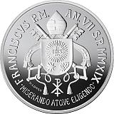 Pamětní stříbrná mince, 5EUR Pontifikát papeže Františka 2019 - 150. výročí Circolo San Pietro