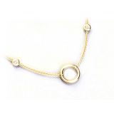 """Krátký náhrdelník s diamanty - """"Prayer for love"""""""