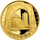 """Pamätná zlatá minca, 5000Kč Cyklus """"Hrady"""" Švihov proof"""