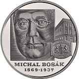 Pamětní stříbrná mince, 10EUR Michal Bosák – 150. výročí narození proof