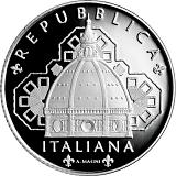 """Pamätná strieborná minca, 5EUR """"Séria Talianske umenie - Toskánsko - Santa Maria del Fiore, Florencia"""" proof"""