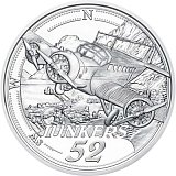 """Pamětní stříbrná mince, 20EUR """"Dosáhnout oblohy - Příchod motorových letů"""" proof"""