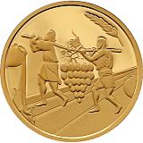Pamětní zlatá mince, 10NIS Dvanáct zvědů 2019 proof