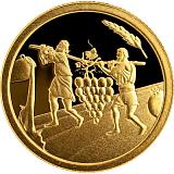 Pamětní zlatá mince, 1NIS Dvanáct zvědů 2019 proof